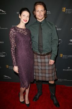 Caitriona Balfe Photos - Actress Caitriona Balfe (L) and actor Sam Heughan attend the BAFTA LA 2014 Awards Season Tea Party at the Four Seasons Hotel Los Angeles at Beverly Hills on January 11, 2014 in Beverly Hills, California. - BAFTA LA 2014 Awards Season Tea Party - Arrivals