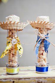 Tubetes decorados para Festa Junina | #daJuuh                                                                                                                                                                                 Mais