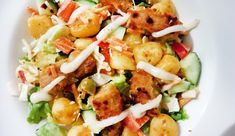 Aardappelsalade met crispy kip