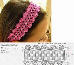 Universo da Moda & Cia.: Faixa de crochê para cabelos