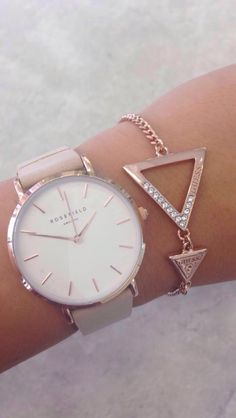 dd1935fa31 Geometric Bracelet | Rose Gold Jewellery | Rosefield Watch Pink Watch, Gold  Watch, Gold