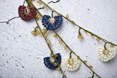 "turkish lace - needle lace - crochet - oya necklace - 111.02"" - FAST worldwide shipment with UPS - saime-010"