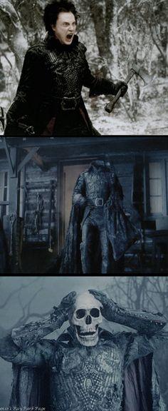 Christopher Walken as the Headless Horseman in 'Sleepy Hallow' (1999). Costume Designer: Colleen Atwood