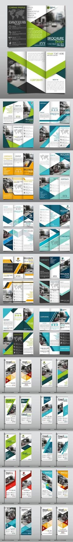 Roll up banner and tri fold brochure