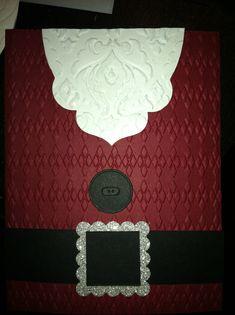 Stampin up. Apothecary. Santa Claus. Christmas card. Embossing