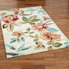 Flor Bloom Sand Tropical Area Rugs