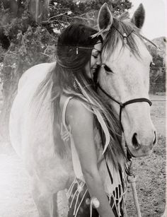 Me and my horse... ♥ ♥ ♥ ♥ ♥ #horse #equine #laughter #hug #smile #summer #sunshine #braid #bohemian #fashion