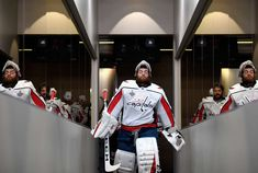 LAS VEGAS, NV - MAY 30: Goaltender Braden Holtby #70 of the Washington Capitals leads his team out to the ice to play in Game Two of the 2018 NHL Stanley Cup Final against the Vegas Golden Knights at T-Mobile Arena on May 30, 2018 in Las Vegas, Nevada. (Photo by Patrick McDermott/NHLI via Getty Images)