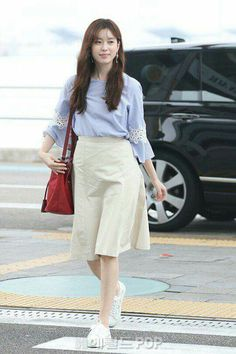 Korean Ootd, Korean Girl, Han Hyo Joo Fashion, Bh Entertainment, W Two Worlds, Airport Style, Airport Fashion, Church Fashion, Fashion Idol