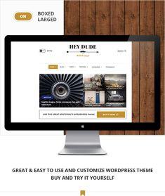 Hey Dude – Magazine, News & Blog WordPress Theme