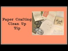 Paper crafters can clean up quick and easy with this great tip! Stampin' Up!, card, paper, craft , paper, scrapbook, craft, rubber stamp, hobby, how to, DIY, handmade, Lisa Curcio, organization, mess, www.lisasstampstudio.com