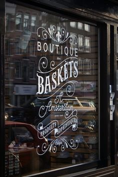 Window lettering inspiration.