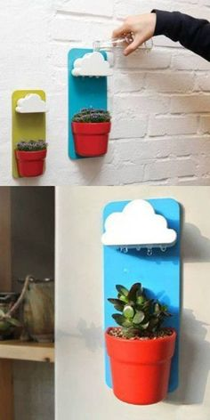 A rainy cloud wall decoration that'll show the world you love plants THAT much.