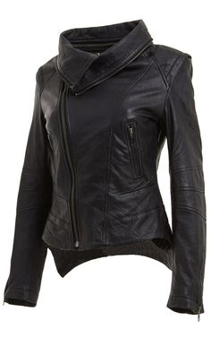 Leather Jacket Womens Biker New Fashion Coat - Hoodies & Sweatshirts | RebelsMarket