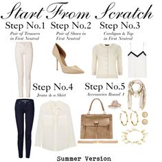 """Start From Scratch Steps 1 to 5 - Summer"" by charlotte-mcfarlane on Polyvore"