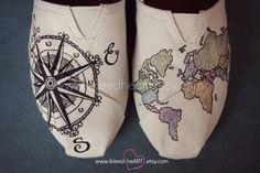 These Custom Painted Shoes | Community Post: 27 Travel Accessories That Will Help Cure Your Wanderlust