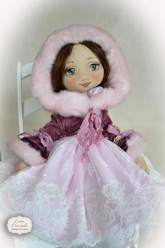 Blueberry jam in the winter. Big doll. Handmade textile doll.