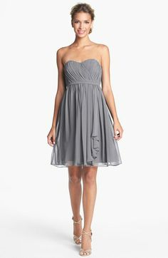 Donna Morgan 'Lindsey' Pleated Sweetheart Neckline Chiffon Dress | Nordstrom