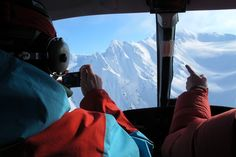 Winter is coming: 13 photos to get you psyching | Matador Network - photo from #Alaska -Todd Ligare and the pilot discuss LZs on a crystal clear February day