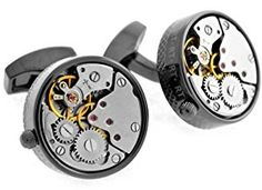 Tateossian Black Skeleton Gunmetal Plated Steampunk Gear Watch Mechanism Cufflinks  http://electmejewellery.com/jewelry/mens-jewelry/mens-cuff-links/tateossian-black-skeleton-gunmetal-plated-steampunk-gear-watch-mechanism-cufflinks-com/
