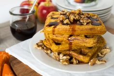 Weekend Brunch Round 35: Pumpkin Spice Waffles with Maple Bourbon Date Syrup