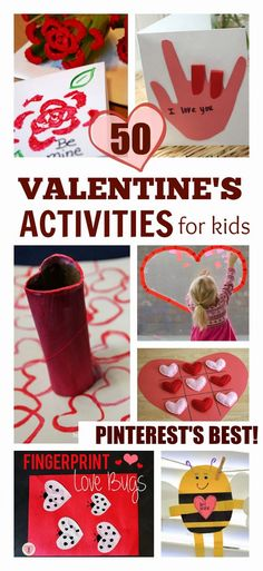 50 of the BEST Valentine's Activities for Kids Collected From Pinterest. Looking for ideas? Look no further!