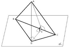Matematică - rezolvări detaliate: Problema - teorema celor 3 perpendiculare
