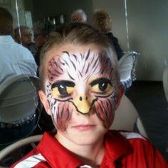 Eagle face paint
