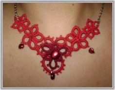 tatted necklace #tatting #tat #jewelry