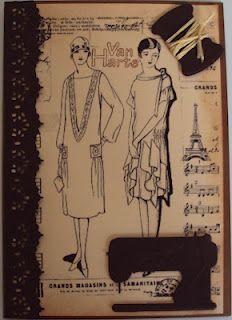 Vintage-inspired digi card...