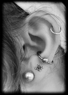 I feel like I can't have any more piercings near my conch because it would be too crowded but this looks great