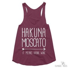 Wine Festival Shirt - Hakuna Moscato - Epcot Food and Wine - Brunch Tanks - Bachelorette Party Shirts - Gifts Under 20 - Girls Night Out by GabeeTees on Etsy