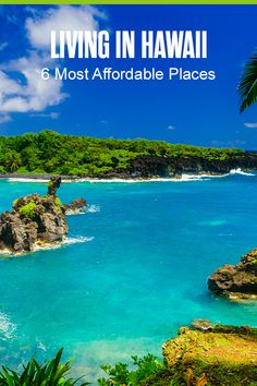Moving to the Aloha State? Whether you want to live close to Honolulu or in a small community on Maui, check out these six cheapest places to live in Hawaii! Best Hawaiian Island, Big Island Hawaii, Hawaiian Islands, Cheapest Places To Live, Best Places To Live, Hawaii Life, Honolulu Hawaii, Moving To Hawaii, Hawaii Travel