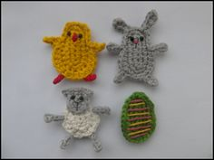 """Free pattern for """"Easter Appliques"""" by Cute and Kaboodle!"""