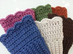 Crochet Boot Cuffs. I REALLY like THESE!!! I can do this :)