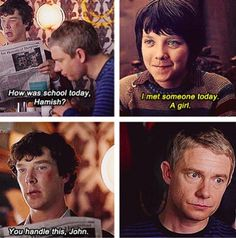 I don't ship Johnlock, but found this super funny. Plus, THAT'S ASA BUTTERFIELD.