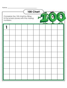 Image result for number chart to 100