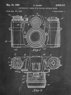 Photographic Camera Patent Art at AllPosters.com