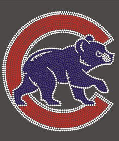 Chicago Cubs Rhinestone Transfer by blingmeasap on Etsy