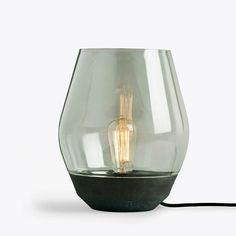 Dimbare design tafellamp groen koper New Works