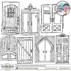 Open A New Door Sketched Door Brushes