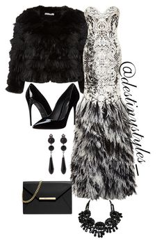 """""""Untitled #200"""" by iamdestinnny on Polyvore featuring Alice + Olivia, Naeem Khan, Dolce&Gabbana, Givenchy, MICHAEL Michael Kors, women's clothing, women, female, woman and misses"""