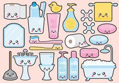 Premium vector clipart kawaii bathroom by looklookprettypaper cute drawings, kawaii Kawaii Stickers, Cute Stickers, Kawaii Drawings, Cute Drawings, Griffonnages Kawaii, Art Mignon, Kawaii Doodles, Vector Clipart, Doodle Art