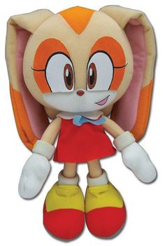 ace toy ko sonic the hedgehog: cream the rabbit [plush] by ge animation - item is new and unopened in original packaging.id: on sonic the hedgehogmanufactured by ge animation Hedgehog Game, Sonic The Hedgehog, Plush Dolls, Doll Toys, Sonic Plush Toys, Cream Sonic, Disney Precious Moments, Sonic Birthday, Birthday List