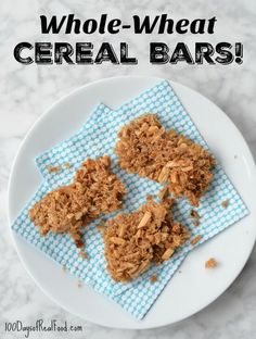 Just because we want to keep it real doesn't mean we have to miss out on convenience food. It is super easy to make these Whole Wheat Cereal Bars.