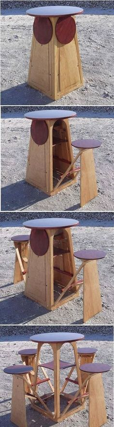 Folding bar table and stools. #mancave Dun4Me is the marketplace for custom made items built to your exact specifications by talented makers. Get bids for free, no obligation!