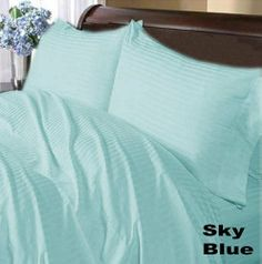 300 TC Brand New 100% Egyptian cotton Comfort Duvet cover 300 THREADS Twin Sky Blue Stripe by pearlbedding. $89.99. Extra Comfortable and most Contemporary Bedding set.. This is one Duvet cover only.. THREAD COUNT/MATERIAL: 300TC , 100% Egyptian Cotton. Experience true luxury when you sleep on these Eqyptian cotton sheets.. Brand New and Factory Sealed.. You are buying the world's finest Bedding made with supreme quality of 100% Egyptian Cotton. These sheets ava...