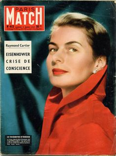 Ingrid Bergman en couverture de Paris-Match en 1957, photo de Walter Carone