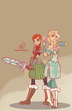 Disney Princess Warriors by MeoMai
