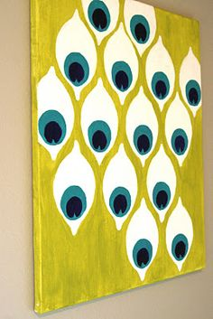 Make it a series with different colors per canvas.   Very cool. From Save it For a Rainy Day
